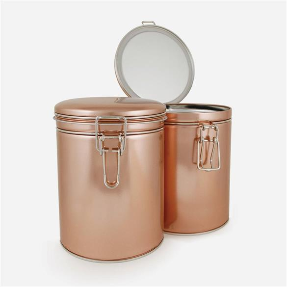 Latched Copper Tea Tin
